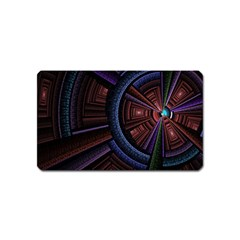 Fractal Circle Pattern Curve Magnet (name Card) by Celenk