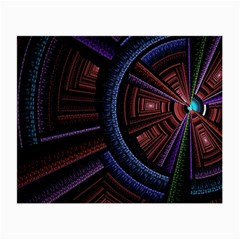 Fractal Circle Pattern Curve Small Glasses Cloth by Celenk