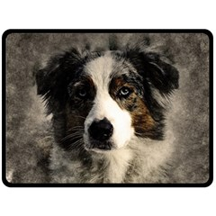Dog Pet Art Abstract Vintage Double Sided Fleece Blanket (large)  by Celenk