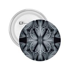 Fractal Blue Lace Texture Pattern 2 25  Buttons by Celenk