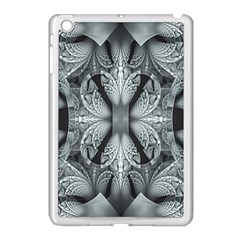 Fractal Blue Lace Texture Pattern Apple Ipad Mini Case (white) by Celenk