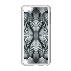 Fractal Blue Lace Texture Pattern Apple Ipod Touch 5 Case (white) by Celenk