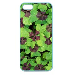 Luck Klee Lucky Clover Vierblattrig Apple Seamless Iphone 5 Case (color) by Celenk