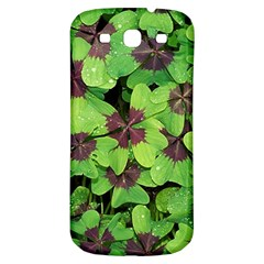Luck Klee Lucky Clover Vierblattrig Samsung Galaxy S3 S Iii Classic Hardshell Back Case by Celenk