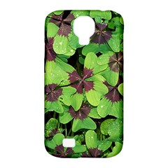 Luck Klee Lucky Clover Vierblattrig Samsung Galaxy S4 Classic Hardshell Case (pc+silicone) by Celenk