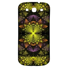 Fractal Multi Color Geometry Samsung Galaxy S3 S Iii Classic Hardshell Back Case by Celenk