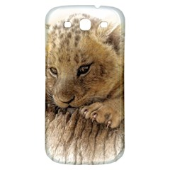 Lion Cub Close Cute Eyes Lookout Samsung Galaxy S3 S Iii Classic Hardshell Back Case by Celenk