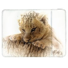 Lion Cub Close Cute Eyes Lookout Samsung Galaxy Tab 7  P1000 Flip Case by Celenk