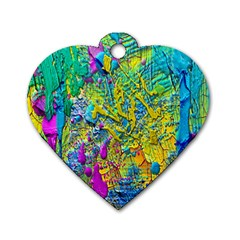 Background Art Abstract Watercolor Dog Tag Heart (one Side) by Celenk