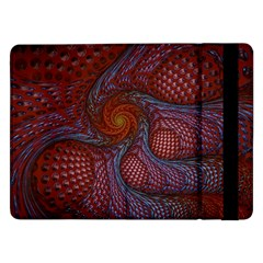 Fractal Red Fractal Art Digital Art Samsung Galaxy Tab Pro 12 2  Flip Case by Celenk