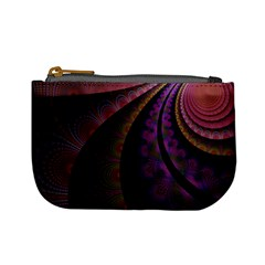 Fractal Colorful Pattern Spiral Mini Coin Purses by Celenk