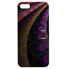 Fractal Colorful Pattern Spiral Apple Iphone 5 Hardshell Case With Stand by Celenk