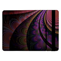 Fractal Colorful Pattern Spiral Samsung Galaxy Tab Pro 12 2  Flip Case by Celenk