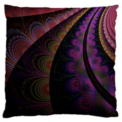 Fractal Colorful Pattern Spiral Standard Flano Cushion Case (one Side) by Celenk