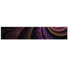 Fractal Colorful Pattern Spiral Large Flano Scarf  by Celenk