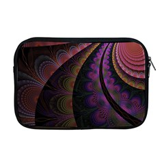 Fractal Colorful Pattern Spiral Apple Macbook Pro 17  Zipper Case by Celenk