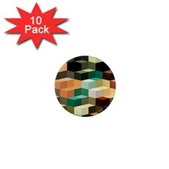 Art Design Color Pattern Creative 3d 1  Mini Magnet (10 Pack)  by Celenk