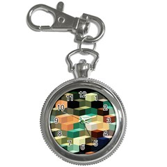 Art Design Color Pattern Creative 3d Key Chain Watches by Celenk