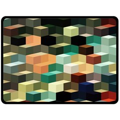 Art Design Color Pattern Creative 3d Double Sided Fleece Blanket (large)  by Celenk