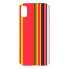 Abstract Background Pattern Textile Apple Iphone X Hardshell Case by Celenk