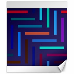 Lines Line Background Abstract Canvas 8  X 10  by Celenk