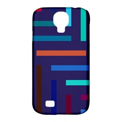 Lines Line Background Abstract Samsung Galaxy S4 Classic Hardshell Case (pc+silicone) by Celenk