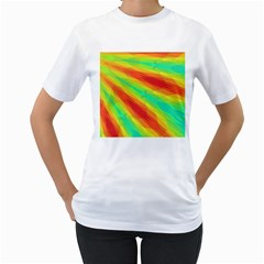 Graphic Kaleidoscope Geometric Women s T Shirt (white) (two Sided) by Celenk