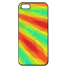 Graphic Kaleidoscope Geometric Apple Iphone 5 Seamless Case (black) by Celenk