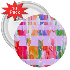 Watercolour Paint Dripping Ink 3  Buttons (10 Pack)  by Celenk