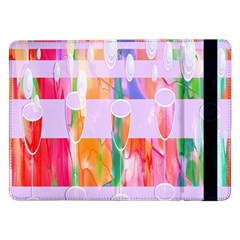 Watercolour Paint Dripping Ink Samsung Galaxy Tab Pro 12 2  Flip Case by Celenk