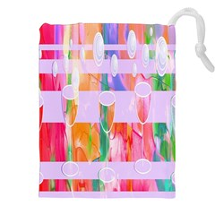 Watercolour Paint Dripping Ink Drawstring Pouches (xxl) by Celenk