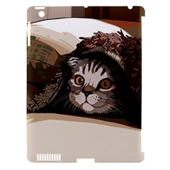Cat Kitten Cute Pet Blanket Sweet Apple Ipad 3/4 Hardshell Case (compatible With Smart Cover) by Celenk