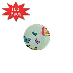 Whimsical Shabby Chic Collage 1  Mini Magnets (100 Pack)  by 8fugoso