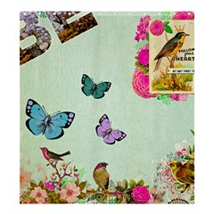 Whimsical Shabby Chic Collage Shower Curtain 66  X 72  (large)