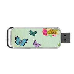 Whimsical Shabby Chic Collage Portable Usb Flash (one Side) by 8fugoso