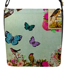 Whimsical Shabby Chic Collage Flap Messenger Bag (s) by 8fugoso