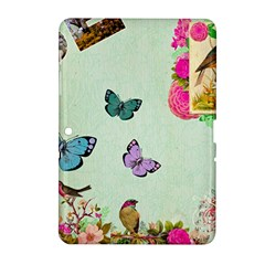 Whimsical Shabby Chic Collage Samsung Galaxy Tab 2 (10 1 ) P5100 Hardshell Case  by 8fugoso