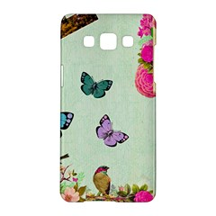 Whimsical Shabby Chic Collage Samsung Galaxy A5 Hardshell Case  by 8fugoso