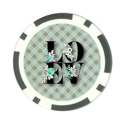 Rustic Love Poker Chip Card Guard (10 Pack) by 8fugoso