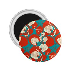Floral Asian Vintage Pattern 2 25  Magnets by 8fugoso