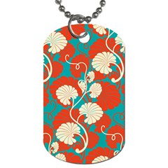 Floral Asian Vintage Pattern Dog Tag (one Side) by 8fugoso