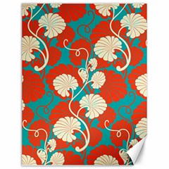 Floral Asian Vintage Pattern Canvas 12  X 16   by 8fugoso