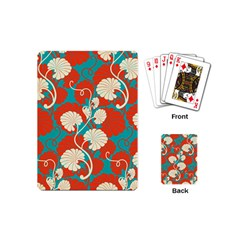 Floral Asian Vintage Pattern Playing Cards (mini)  by 8fugoso