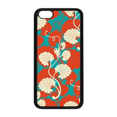 Floral Asian Vintage Pattern Apple Iphone 5c Seamless Case (black) by 8fugoso