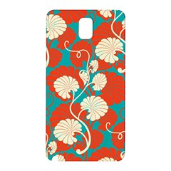 Floral Asian Vintage Pattern Samsung Galaxy Note 3 N9005 Hardshell Back Case by 8fugoso