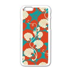 Floral Asian Vintage Pattern Apple Iphone 6/6s White Enamel Case by 8fugoso