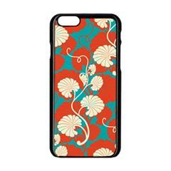 Floral Asian Vintage Pattern Apple Iphone 6/6s Black Enamel Case