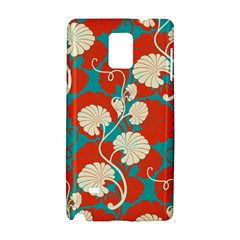 Floral Asian Vintage Pattern Samsung Galaxy Note 4 Hardshell Case by 8fugoso
