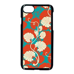 Floral Asian Vintage Pattern Apple Iphone 7 Seamless Case (black) by 8fugoso