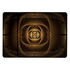 Fractal Copper Amber Abstract Samsung Galaxy Tab 10 1  P7500 Flip Case by Celenk